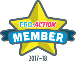 PRO ACTION BADGE